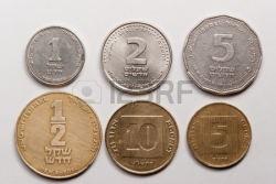 12747982-the-israeli-coins-light-from-up