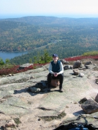 Phyllis (Ginger) Safer in Acadia National Park, Maine.